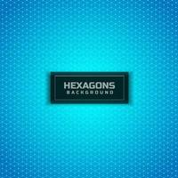 Abstract geometric hexagons seamless pattern on blue background. Modern stylish texture. vector