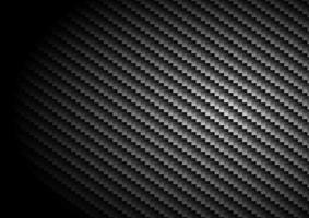 Fondo de fibra de carbono negro y textura con iluminación. vector
