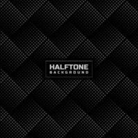 Abstract gray halftone lattice pattern on black background. vector