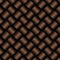 Geometric black and orange weave pattern background. vector