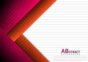 Abstract template design geometric red and pink triangles overlapping layer. Modern shape with halftone on white background. vector