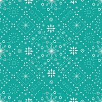 Seamless vector pattern of abstract ornaments on red background designed for Christmas celebrationc