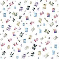 Cassette pattern background for Music brochure cover design. vector banner poster template