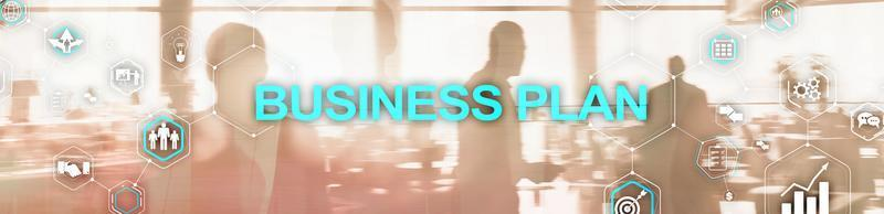 New Business Plan. Analysis and strategy concept. Horizontal Panoramic banner. photo