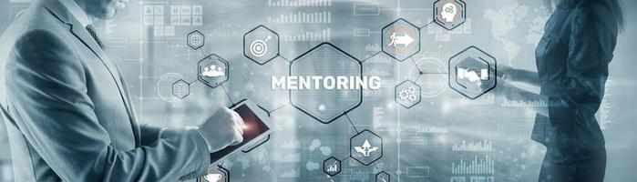coaching personal. tutoría empresarial. formación concepto de desarrollo personal. foto