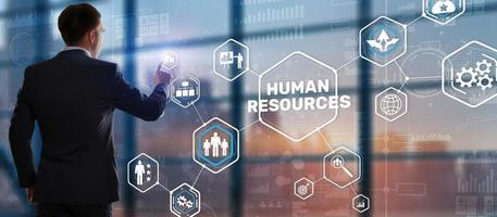 New Human resource management. HR. Team Building and recruitment concept. photo