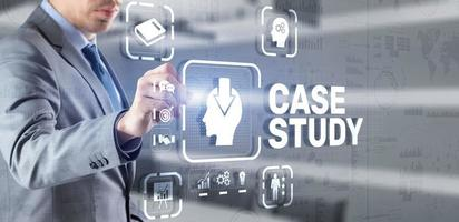 Case Study Education concept. Analysis of the situation to find a solution photo