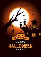 halloween poster for your design for the holiday Halloween vector
