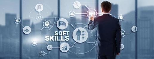 Financial concept about Soft Skills team spirit communication assertiveness photo