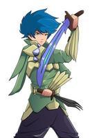 Character design wind breaker vector