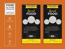 food dl flyer vector design.