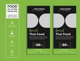 dl food flyer design. vector
