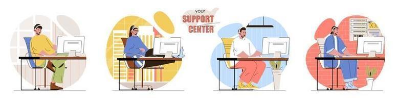 el conjunto de escenas del concepto de su centro de soporte vector
