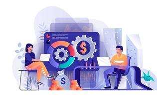 concepto de gestión financiera en diseño plano vector