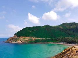 Blue sea and a tropical beach photo
