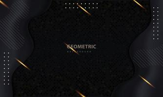 Abstract dark and gold light effect background vector
