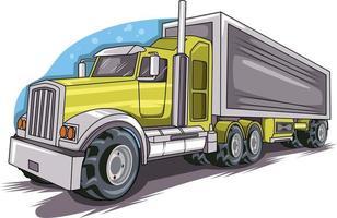 vector de coche de camión grande