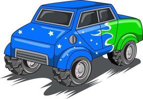 american classic truck vector