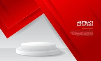 red white modern abstract background design vector