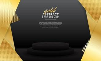 gold modern abstract background design vector