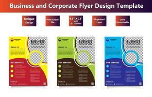 Corporate Flyer Template Set vector