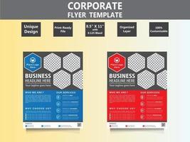 Corporate Flyer Template vector