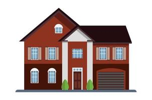 Colorful Flat Residential House vector