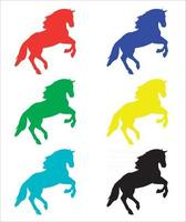 Colorful Vector illustration of Horse Silhouette