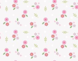 Cute flowers are creating a retro pattern. Simple pattern design template. vector