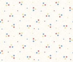 A pattern made by collecting three cute shapes. Simple pattern design template. vector