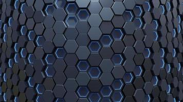Light blue hexagon abstract background photo