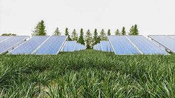 Solar power panel on sky background photo