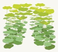 Beautiful lotus leaf forest. vector design illustrations.