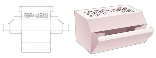 packaging box die cut template vector