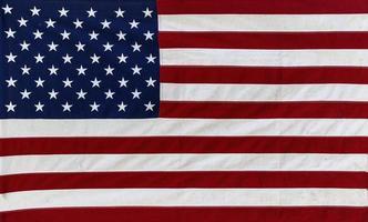 USA flag made of textile photo
