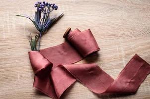 Ribbon cotton for bridal bouquet photo