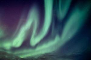 Beautiful northern lights or aurora borealis explosion photo
