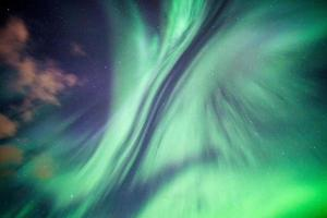 Colorful Northern lights, Aurora borealis on night sky photo