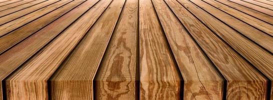 Brown wooden striped table top texture photo