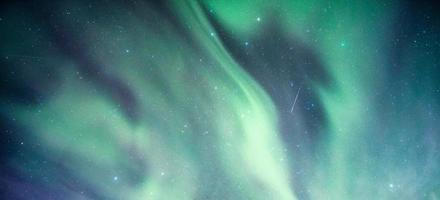 Northern lights, Aurora borealis with starry in the night sky photo