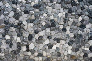 Dry Stacked cut stone wall texture photo