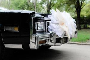 boda coche negro foto