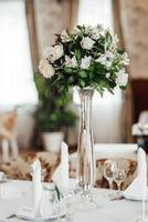 Banquet hall for weddings with decorative elements photo