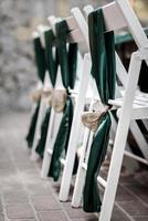 wedding ceremony in the woods photo
