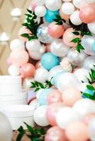 Wedding decor with large beads photo