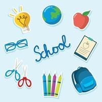 Back to School Icon Set vector