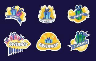 Giveaway Sticker Set vector