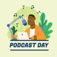 World Podcast Day vector