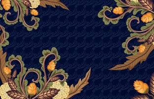 Batik Floral Background vector