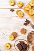 galletas sandwich con crema de chocolate foto